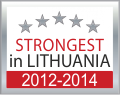 The strongest in Lithuania 2012-2014 certificate